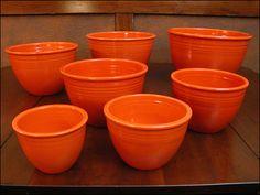 fiesta nested mixing bowl set full set radioactive red