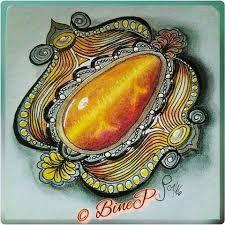 Afbeeldingsresultaat voor zentangle gems Tangle Doodle, Tangle Art, Doodles Zentangles, Zentangle Patterns, Doodle Art, Gem Drawing, Pen Design, Gem Show, Color Pencil Art