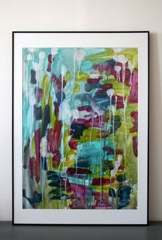 Huge abstract expressionism original painting