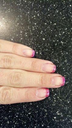 Shellac glitter hombre nails