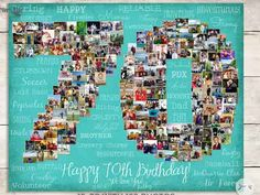 70th birthday photo collage