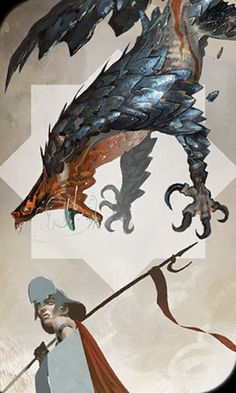 Varghest tarot card - Dragon Age Inquisition