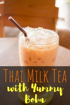 Thai milk tea with yummy boba is very popular, most of the time it's served in a plastic bag full of ice - it's much better with ice. And the boba is so chewy and tasty you can't miss it. Anyway, enjoy this drink! Milk Tea Recipes, Iced Tea Recipes, Drink Recipes, Yummy Recipes, Iced Tea Cocktails, Cocktail And Mocktail, Cocktail Recipes, Yummy Drinks, Healthy Drinks