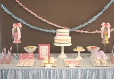cute kid party ideas - love the cake, cookies, and cupcakes -- karaspartyideas.com