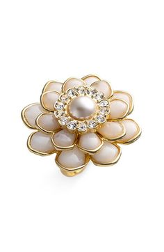 kate spade new york 'sweet zinnia' oversized floral ring available at #Nordstrom