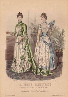 La Mode Illustrée Fashion Plate 1889