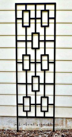geometric lattice - inspiration for future DIY project for the garden Home Window Grill Design, Window Grill Design Modern, House Window Design, Balcony Grill Design, Grill Door Design, Balcony Railing Design, Door Gate Design, Room Door Design, Wooden Door Design