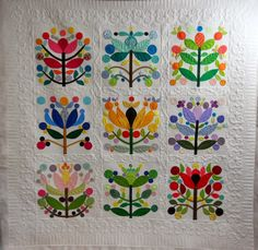 Singing Stitches Quilting Studio: Ginny's Lollypop Tree Quilt in the Mid-Atlantic Quilt Festival!