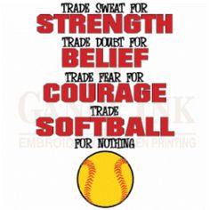 Softball its a way of life:)