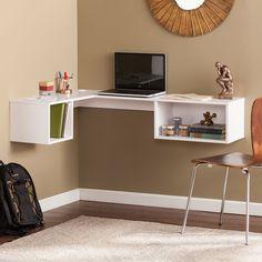 Floating Corner Desk, Small Corner Desk, Corner Wall, Floating Computer Desk, Computer Desks, Floating Wall, Wall Mounted Desk, Wall Desk, Desk Chair