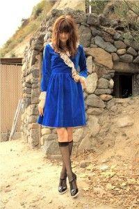 vintage dresses blue