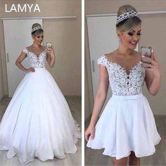 2 In 1 Wedding Dress, Detachable Wedding Dress, Wedding Dresses Under 100, Wedding Gowns, Bridal Dresses, Dream Wedding, Ali Express, Embroidery Fashion, Ukraine