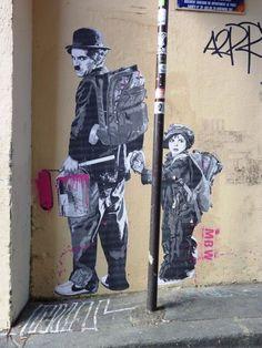 Chaplin.  street art 000