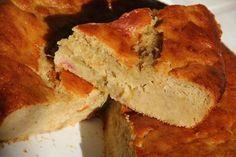 Gâteau à la fraise, rhubarbe et au miel
