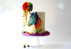 How to build a double barrel cake AND paint with edible watercolor!