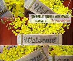 planter troughs  the space between diy pallet trough with image transfer