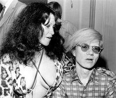 Geri Miller and Andy Warhol, 1971.