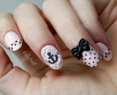 THESE ARE PERFECT!!! 10pcs Nail Art / Deco Bows  Black by DollyBeat on Etsy, $4.25