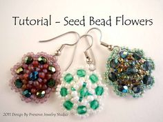 seed bead & crystal flower tutorial