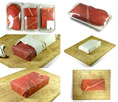 It's just an odd one out, because this is not food :) Found it B B Jahns Packaging Solutions meet This New Gift Wrapper That Makes Gifts Look Like Meat : ) PD Wine Packaging, Brand Packaging, Stationary Gifts, Steak And Seafood, Gift Wraping, Packaging Solutions, Packaging Design Inspiration, Grafik Design, Food Design