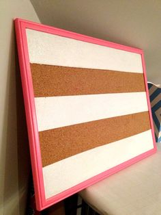 give a bulletin board as a prize.use to display info at the party as well Memo Boards, Cork Boards, Big Little Gifts, Ideas Para Organizar, Arts And Crafts, Diy Crafts, Rental Decorating, Sorority Crafts, Office Decor