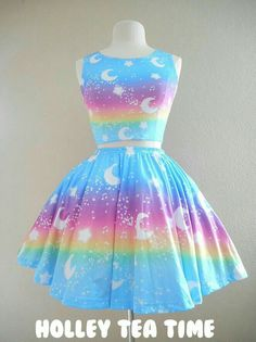 Dress cute kawaii pastel goth 19 ideas for 2019 Estilo Goth Pastel, Pastel Goth Fashion, Kawaii Fashion, Cute Fashion, Pretty Outfits, Pretty Dresses, Beautiful Dresses, Cool Outfits, Kawaii Dress