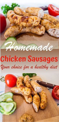 These Homemade Chicken Sausages will super easily fit in your daily macros. They are lean but juicy and delicious! This Chicken Sausage recipe is keto-friendly, high in protein and low in fat, very nu Homemade Chicken Sausage Recipes, Sausage Crockpot, Chorizo, All You Need Is, Home Made Sausage, Sausage Making, Foodblogger, Keto, Healthy Dinner Recipes