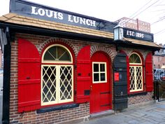 Connecticut - New Haven - Louis Lunch, the world's first hamburger!