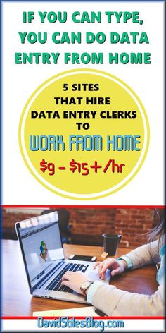 5 COMPANIES TO CHOOSE FROM PLUS A BONUS COMPANY. DATA ENTRY CLERKS (TRANSCRIPTIONIST) NEEDED TO WORK FROM HOME. From: http://DavidStilesBlog.com