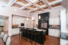 """""""View this Great Traditional Kitchen with Box ceiling & Custom hood by Donald A. Gardner Architects. Discover & browse thousands of other home design ideas on Zillow Digs."""""""