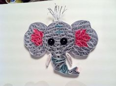 Elephant detail for Paper Quilling Custom order. Zoo theme…   Flickr