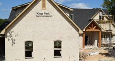 """""""Sacking and Smearing"""" Brick Colors, Houston Tx, Paint Colors, House Plans, New Homes, Commercial, Exterior, Cabin, House Styles"""