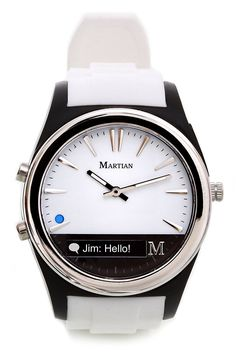 awesome NEW Martian Watches Notifier Smartwatch White Watch MN200WBW   Check more at http://harmonisproduction.com/new-martian-watches-notifier-smartwatch-white-watch-mn200wbw/
