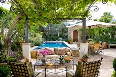 A gazebo is a pavilion structure, often built in a garden, next to the pool. We have a bunch of cool ideas showing how you can decorate a pool gazebo. Outdoor Rooms, Outdoor Gardens, Outdoor Living, Outdoor Seating, Canopy Outdoor, Outdoor Pillow, Outdoor Lounge, Gazebos, Outside Living