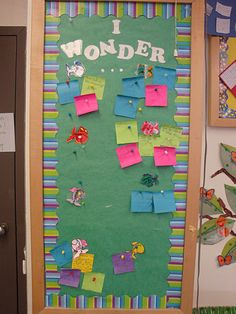 Wonder Wall  - Like a Parking lot for kids to ask questions or if they have reflections. I like it!