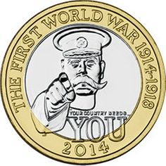 To mark the centenary of the First World War, the Royal Mint revealed a five-year commemoration of the wartime journey from outbreak to armistice. Pound Money, Rare British Coins, Change Checker, Rare Coins Worth Money, Mint Coins, Coin Worth, One Coin, Challenge Coins, Coin Collecting