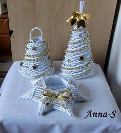 Bielo-zlatá sada, Papierové pletenie | Artmama.sk