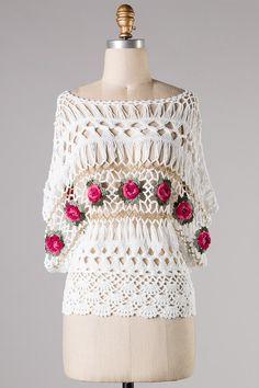 Hairpin Crochet Magnolia Top. http://www.emmastine.com/images/Product/Fashion/Tops/EST-MY-338-BK.jpg