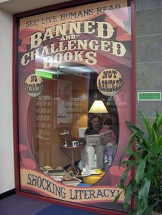 Best library display ever. Banned and Challenged books.