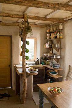 Minimalist Natural Small Kitchen