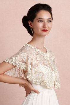 First Light Capelet in Bride Bridal Cover Ups at BHLDN