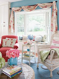 sitting room at the other end of my dream sewing room!