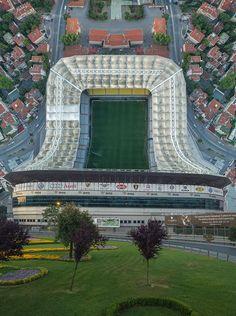 Фенербахче стадион заснет и огънат сюрреалистично с дрон