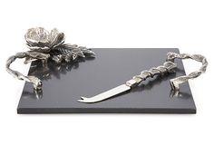 Marble Cheeseboard w/ Knife on OneKingsLane.com