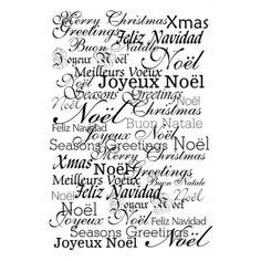 citations scrapbooking   Tampon Artemio Cling Joyeux Noel
