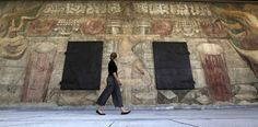 """LA Times """"It has taken 80 years, but Los Angeles today does honor to its history. After a painstaking rehabilitation, a long-hidden mural by David Alfaro Siqueiros will be unveiled."""""""