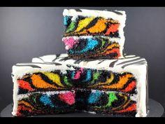RAINBOW ZEBRA CAKE | How to Make a Surprise Inside Zebra Cake | My Cupcake Addiction - YouTube