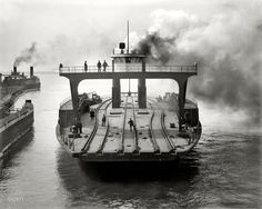 Rr Car, Barge Boat, Detroit Motors, Great Lakes Ships, Ferry Boat, Train Pictures, Tug Boats, Model Trains, Vintage Photos