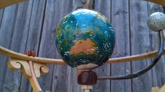Collective Daydream - wooden automata / orrery - Earth and Moon https://www.facebook.com/planetarymotion?ref=hl