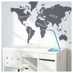 Pin by pooja gaba on corkboard world map pinterest ikea kltta decoration stickers blackboard world 60x103 cm this world map is both a decorative picture gumiabroncs Choice Image